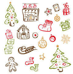 Weihnachten, christmas design elements