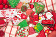 Mix of Christmas decoration with cookies