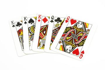 Spielkarten Könige und Damen