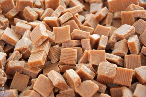 Caramel candy squares