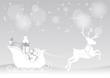 Noël - renne et son  traineau plein de cadeaux