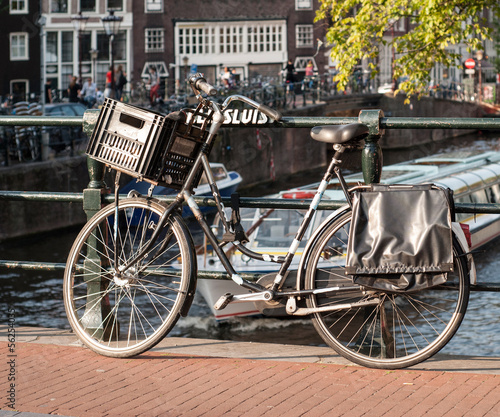 Bicycle on a bridge in Amsterdam