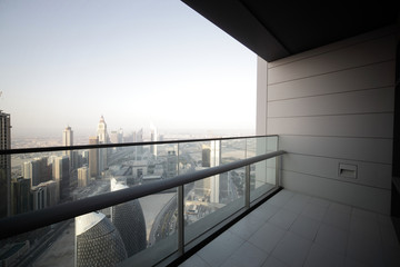 balcony in dubai skyscraper