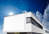 Haus Bauhaus mit Schild poster