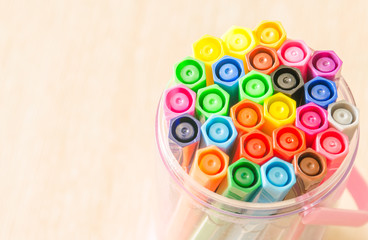 Felt-tip pens in a box