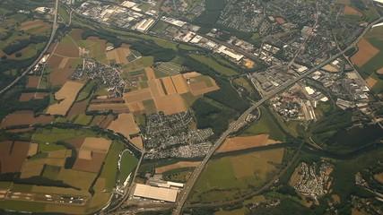 Flug über Düsseldorf