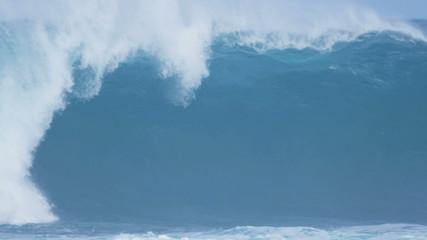 Slow Motion Fierce Breaking Surfing Waves