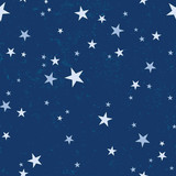 Starry night vector seamless pattern