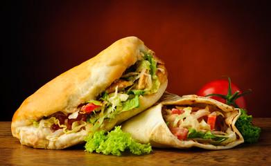 Kebab and shawarma