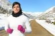 Running sport on winter