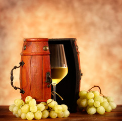 Vino Bianco con uva