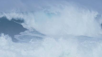 Fierce Breaking Surfing Waves Slow Motion