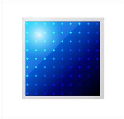 Vector solar panel. Icon.