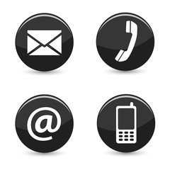Contact Us Web Buttons Icons