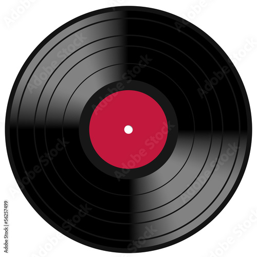 Red Lp Vinyl Disc Vintage Record