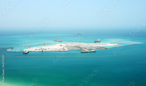 The construction of the Dubai Eye