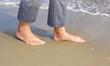 Barfuß am Meer