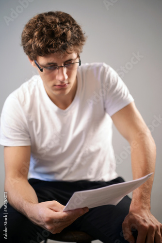 Men reading a contract
