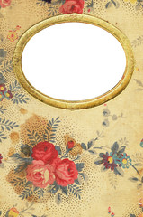 antique floral diary cover