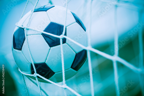 Soccer Ball into the Net
