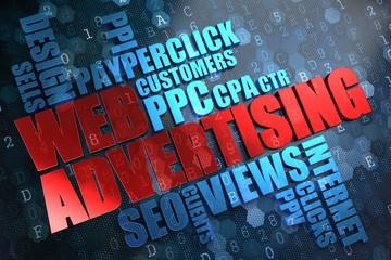 WEB Advertising. Wordcloud Concept.