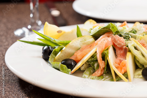 Salad with salmon