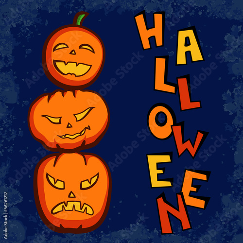 Funny Halloween pumpkins vector illustration