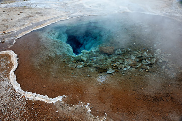 Iceland - Geysir geothermal area and geyser