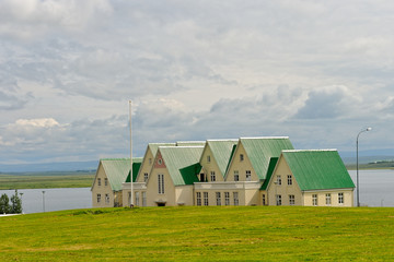 Iceland - landscape with typical houses