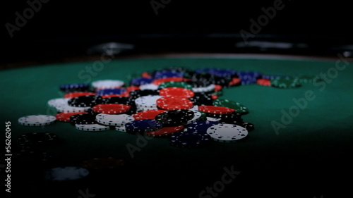Color Chips. Poker.