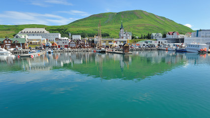Iceland - Husavik harbour for whale watching