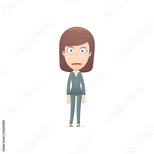 businesswoman in various poses for use in advertising,