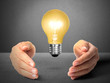 ideas light bulb in  hand
