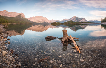 Kananaskis Upper Lake at Dawn