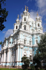 Smolny Cathedral in St. Petersburg, Russia