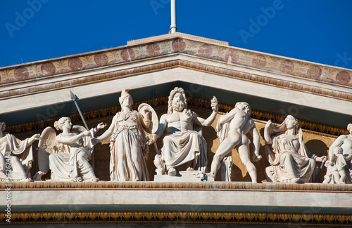 The pediment of the Academy of Athens.