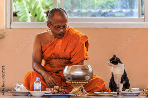 BANGKOK, THAILAND - SEPTEMBER 7: Buddha Holy Day on September 7,