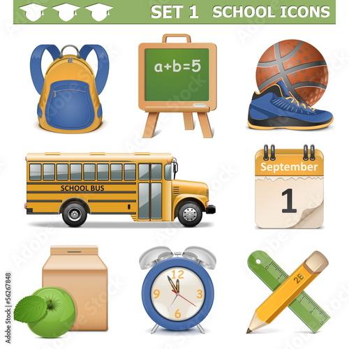 Vector School Icons Set 1