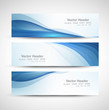 Abstract header blue wave whit vector design