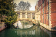 canvas print picture - The Bridge of Sigh, Cambridge