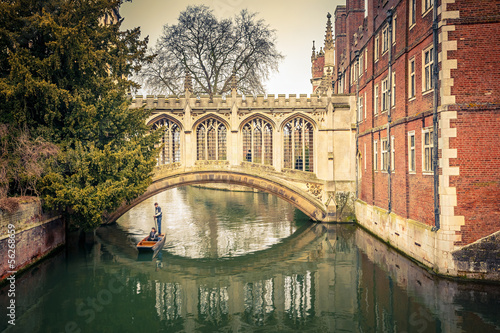 canvas print picture The Bridge of Sigh, Cambridge