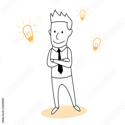 Creative Businessman cartoon