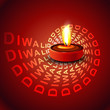 Stylish glowing colorful diwali beautiful diya background vector