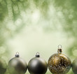christmas balls with copy space green version