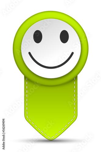 Pfeil Pin Smiley grün