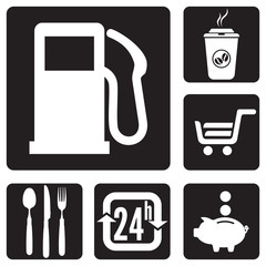 Road service icons