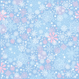 Cristmas background with snowflakes