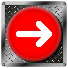 Right arrow metallic icon