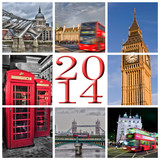 2014, collage Londres