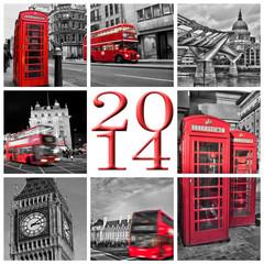 2014, Londres noir et blanc